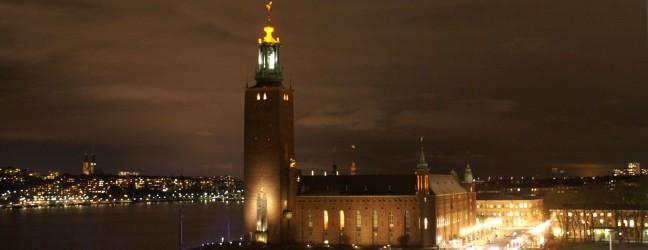 Stadshuset by night Foto: Michael Silkesjöö ©